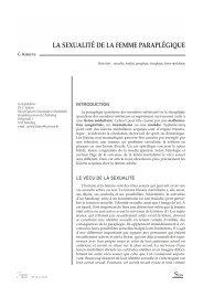 LA SEXUALITÉ DE LA FEMME PARAPLÉGIQUE - wheelchair.ch