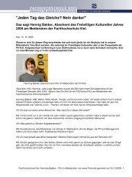 Fachhochschule Kiel: Henning Bakker - FKJ im ... - LKJ SH eV