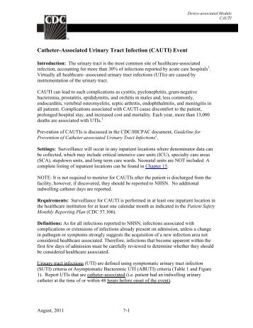 7 Catheter-associated Urinary Tract Infection (CAUTI) - On The CUSP
