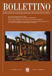Novembre 2006 (pdf - 682 KB) - Ordine Provinciale dei Medici ...