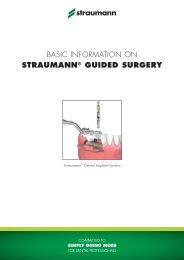 basic information on straumann® guided surgery - Instructions for Use