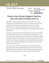 Thanks to Store Brands, Shoppers Could Save About One ... - PLMA