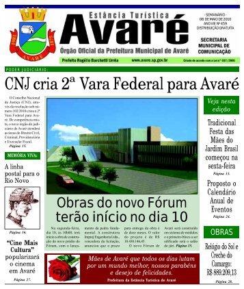 CNJ cria 2ª Vara Federal para Avaré - Câmara Municipal da ...