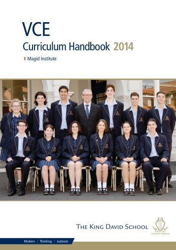 VCE Course Handbook 2014 - Principal's Welcome