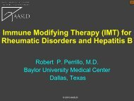 Immune Modifying Therapy (IMT) for Rheumatic Disorders ... - AASLD