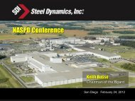 Keith Busse, Chairman of the Board of Steel Dynamics - NASPD