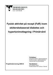 Fysisk aktivitet på recept (FaR) inom sköterskebaserad diabetes och ...