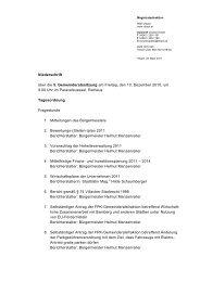 Niederschrift über die 5. Gemeinderatssitzung am Freitag ... - Villach