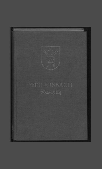 1200 Jahre Geschichte des Dorfes Weilersbach - Villingen ...