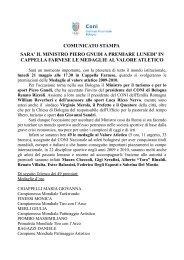 vedi il comunicato completo (file .pdf) - CONI Emilia Romagna