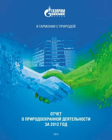 ОТЧЕТ О прирОдООхраннОй дЕяТЕльнОсТи За 2012 ГОд