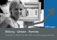 Bildung - Wissen - Karriere. - Volkshochschule Lingen