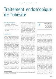 Traitement endoscopique de l'obésité