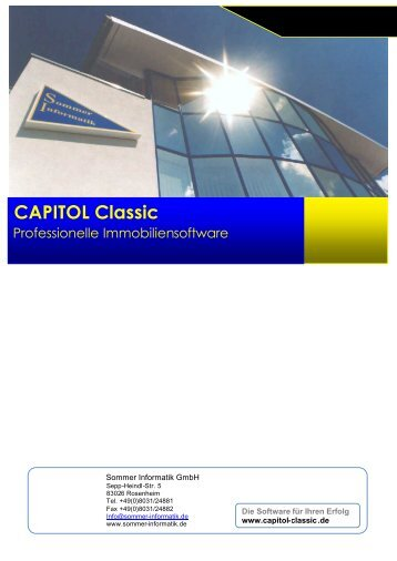 Datenblatt Software Capitol Classic