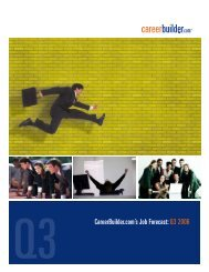 CareerBuilder.com's Job Forecast: Q3 2006 - Icbdr