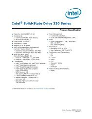 Intel Solid-State Drive 330 Series Product Specification