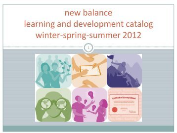 new balance learning and development catalog winter-spring ...