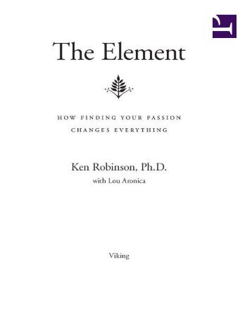 The element by ken robinson epub ccuart Images