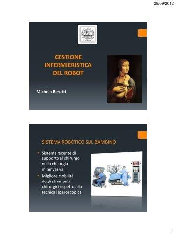 GESTIONE INFERMIERISTICA DEL ROBOT - Limesmed.com
