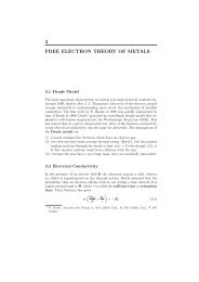 3 FREE ELECTRON THEORY OF METALS