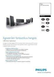 HTS3154/12 Philips DVD házimozirendszer - LCD és plazma TV ...