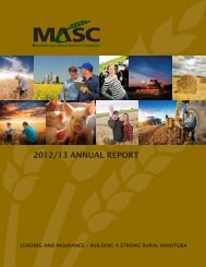 2012/13 annual report - Manitoba Agricultural Services Corporation