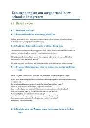 Een stappenplan om zorgportaal in uw school te integreren - VDAB