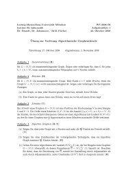 Übung zur Vorlesung Algorithmische Graphentheorie