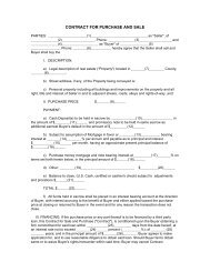 CONTRACT FOR PURCHASE AND SALE - Free Legal Forms