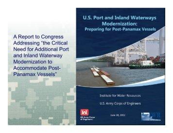 U.S. Port and Inland Waterways Modernization: Preparing for Post ...
