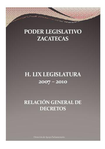 decretos - Congreso del Estado de Zacatecas