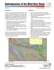 Hydrodynamics of the Wind River Basin - Canadian Discovery Ltd.