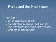 Frailty and the Practitioner - Solidage