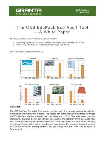 Eco Audit White Paper. - Granta Design