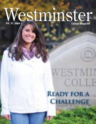 REAdy FOR A ChAllENGE - Westminster College