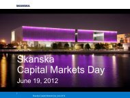 Skanska Capital Markets Day