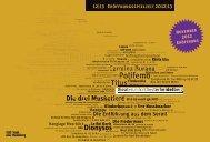 Spielzeit 2012|13 - Theater und Orchester Heidelberg