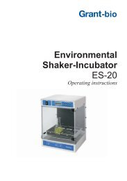 Shaker Incubator ES-20 Operating Instructions - Grant Instruments