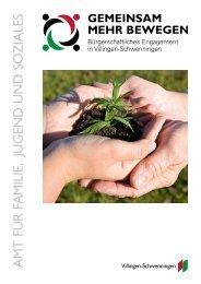 Broschüre zum Bürgerschaftlichen Engagement in Villingen