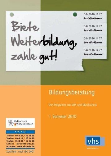 VHS Umbruch akt. 1/2010 - Volkshochschule und Musikschule ...