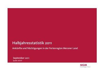 Halbjahresstatistik 2011 - MGM