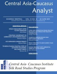 No. 12, June 22 issue - Central Asia-Caucasus Institute and Silk ...