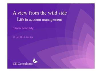 view presentation - pdf - MedComms Networking