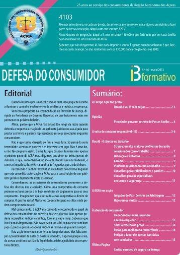 DEFESA DO CONSUMIDOR - ACRA