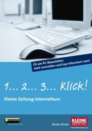 Kleine Zeitung-Internetkurs - CHS Villach