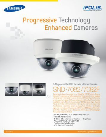 3 Megapixel Full HD Network Dome Camera - Samsung