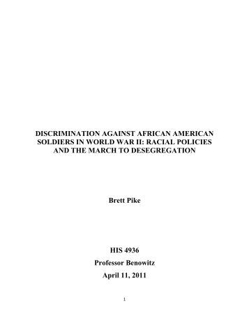 essay on discrimination against african americans The biggest crime in the us criminal justice system is that it is a race-based institution where african-americans are discrimination against.