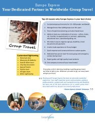 Your Dedicated Partner in Worldwide Group Travel - Europe Express