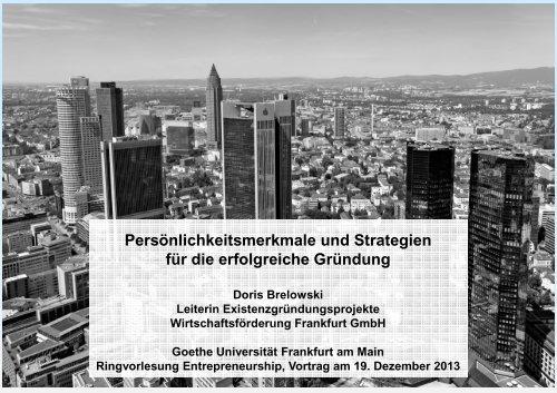 Lecture Slides - Goethe-Universität