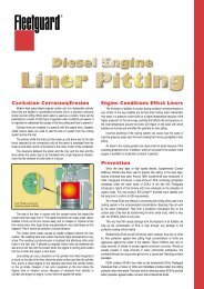 Cavitation Corrosion/Erosion Engine Conditions Effect Liners ...